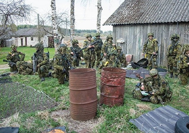 Estonian army during the Spring Storm dril