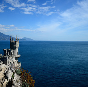 Swallow's Nest is a monument of architecture on top of the Aurora Cliff overlooking the Cape of Ai-Todor in Yalta, the Crimea. (File)