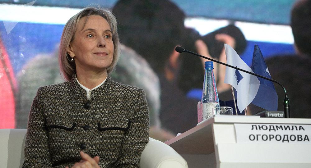 Deputy Minister of Education and Science Lyudmila Ogorodova (File)