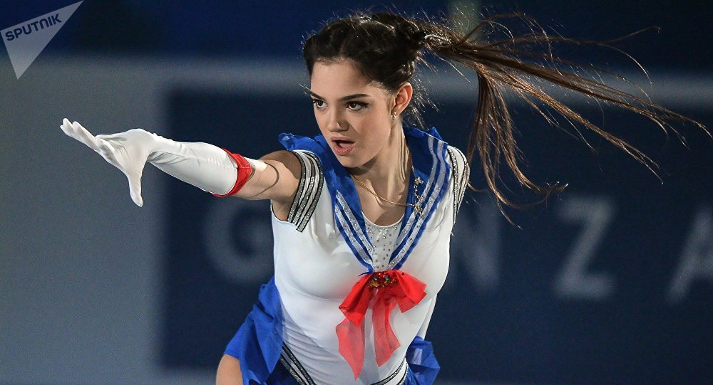 WATCH Russian Ice Champ Medvedeva Rocking Arena in Skimpy Pink