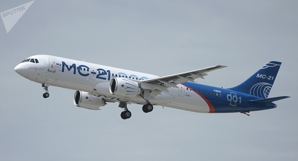 Photo of the MC-21's first flight