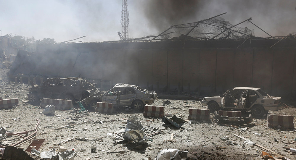 Video Emerges Of Kabul Truck Bomb That Killed, Wounded Hundreds
