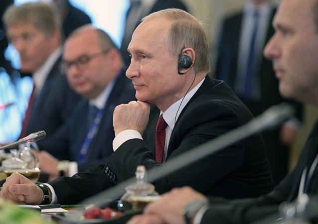 Russian President Vladimir Putin attends 2017 St. Petersburg International Economic Forum