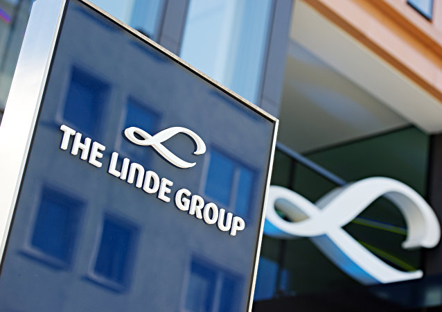 In this March 17, 2014 file picture the company logo of Linde AG is photographed in Munich, Germany.