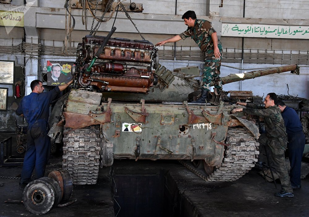 Help From the Home Front: A Damascus Factory Where Tanks Get a New Lease on Life