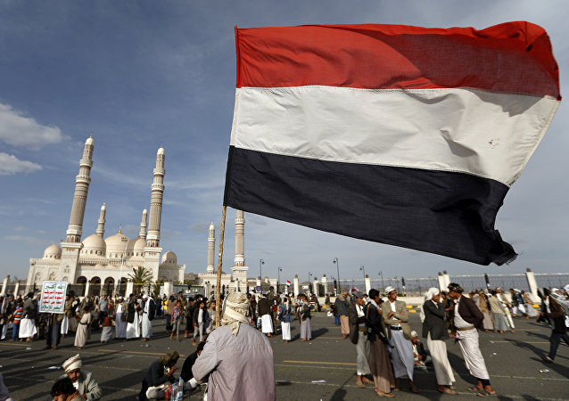 Yemeni national flag (File)