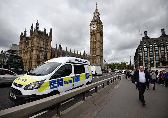 Pedestrians walk past barriers on Westminster Bridge, in central London June 5, 2017.