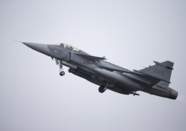 A Swedish JAS Gripen fighter is operated during the Arctic Challenge Exercise (ACE 2015) organized by Sweden, Finland and Norway in Rovaniemi, Finland on May 27, 2015.