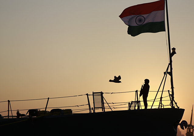 The Indian Navy has deployed a warship near the Strait of Malacca on a permanent basis to monitor the world's busiest shipping route from its western edge.
