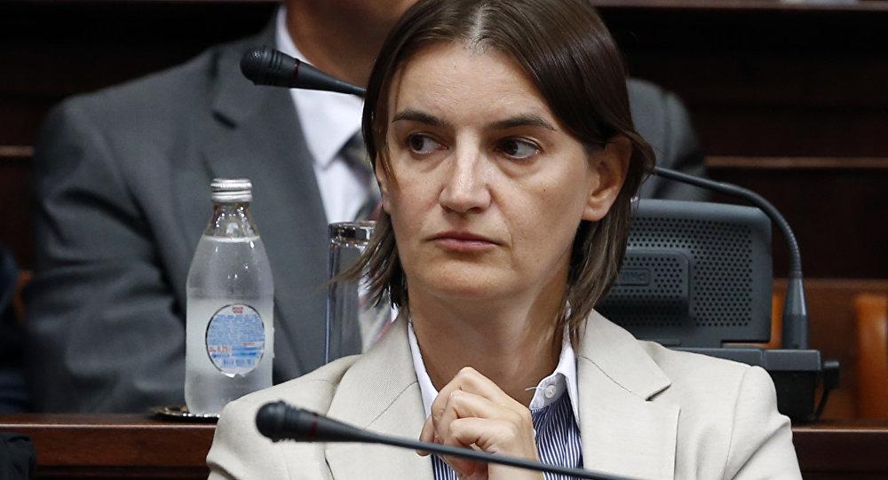 Ana Brnabic attends a parliament session in Belgrade, Serbia (File)