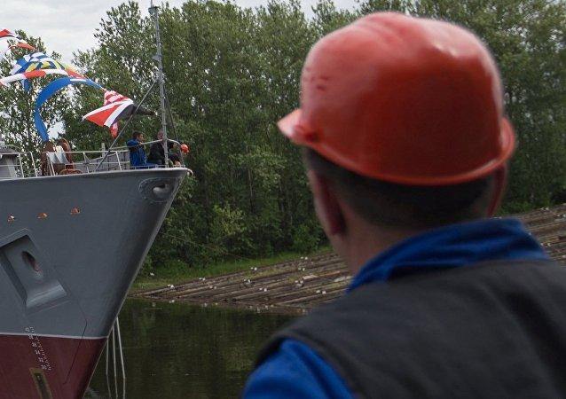 Sredne-Nevsky Shipyard worker. (File)