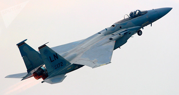 An American F-15 fighter plane. (File)