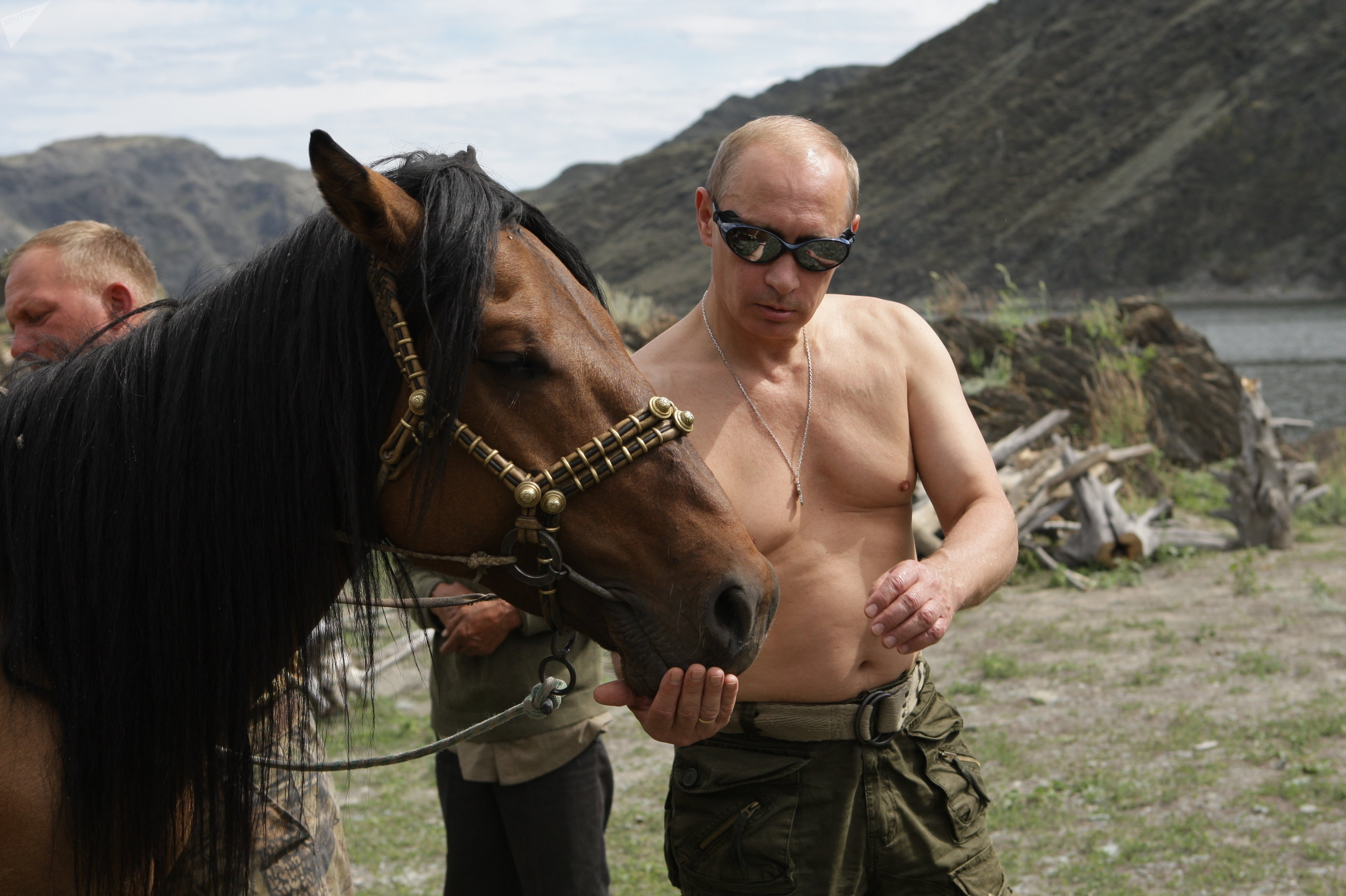 Vladimir Putin on vacation in Tyva Republic
