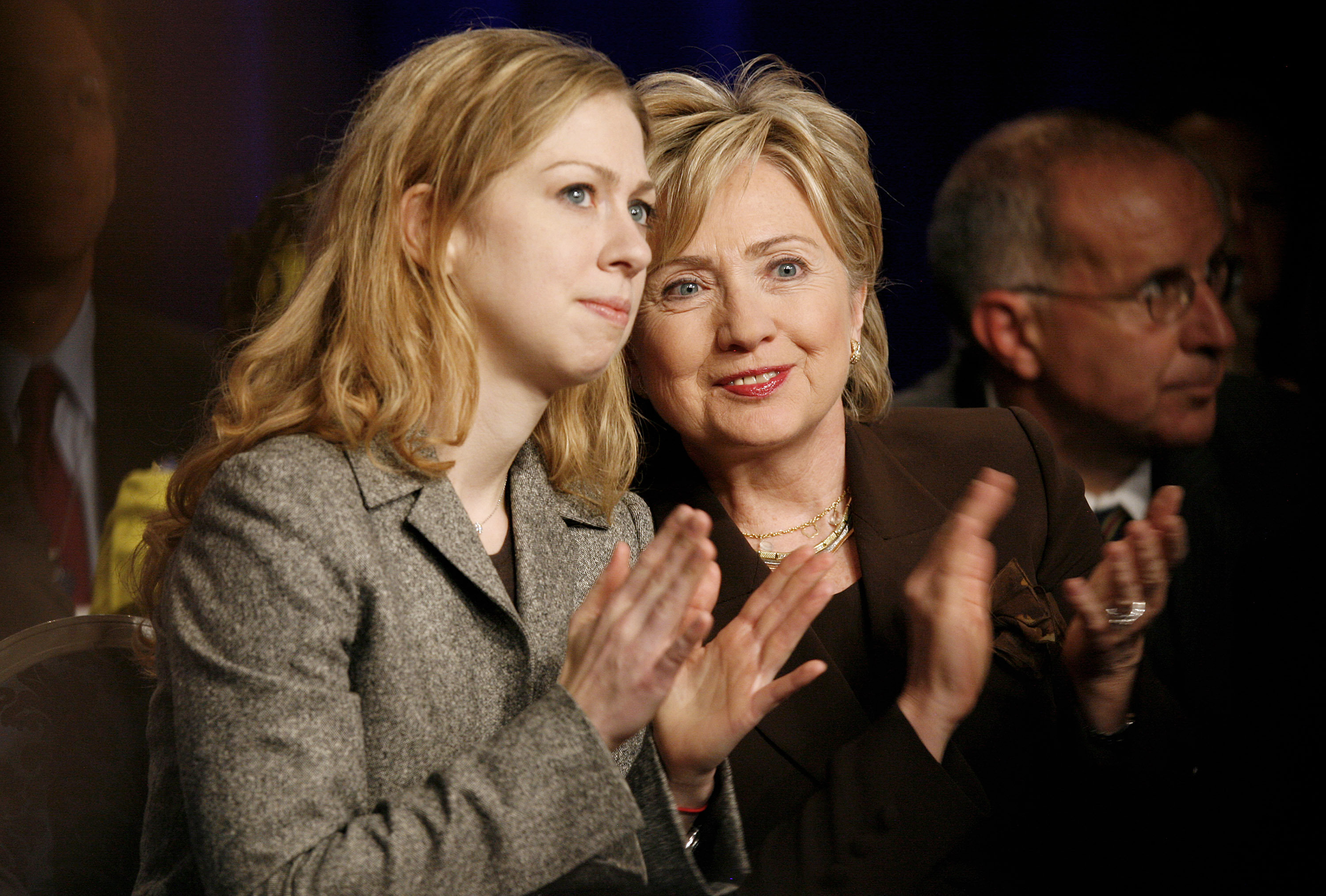 Chelsea Clinton, left, and her mother, former Democratic presidential candidate Hillary Clinton. (File )