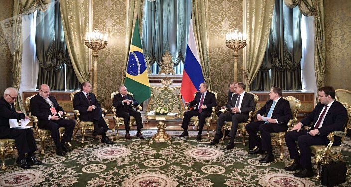 President Vladimir Putin holds official meeting with Brazilian President Michel Temer