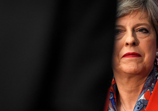 Britain's Prime Minister Theresa May waits to speak after retaining her seat at the count centre for the general election in Maidenhead, June 9, 2017.