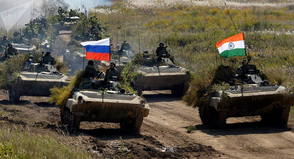 Indra 2016 Russian-Indian military exercise in Primorye Territory. File photo