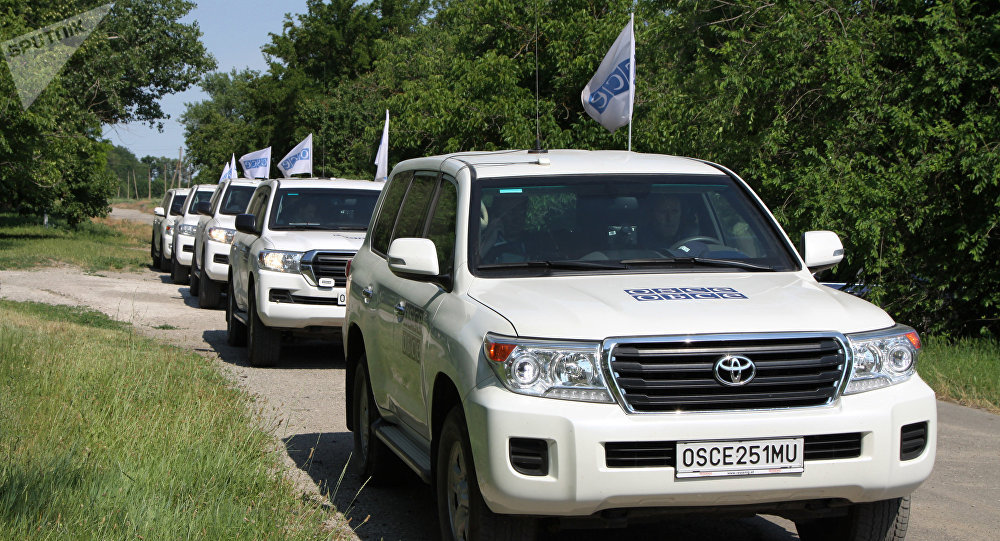 OSCE SMM Principal Deputy Chief Monitor Alexander Hug vists Donbass
