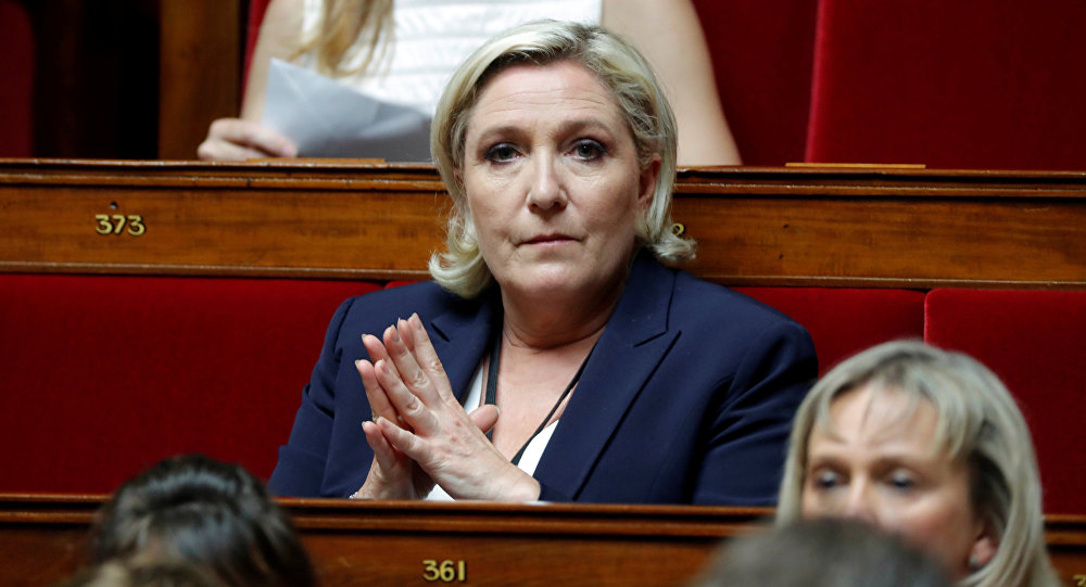 Newly-elected member of parliament Marine Le Pen of France's far-right National Front (FN) political party attends the opening session of the French National Assembly in Paris, France, June 27, 2017
