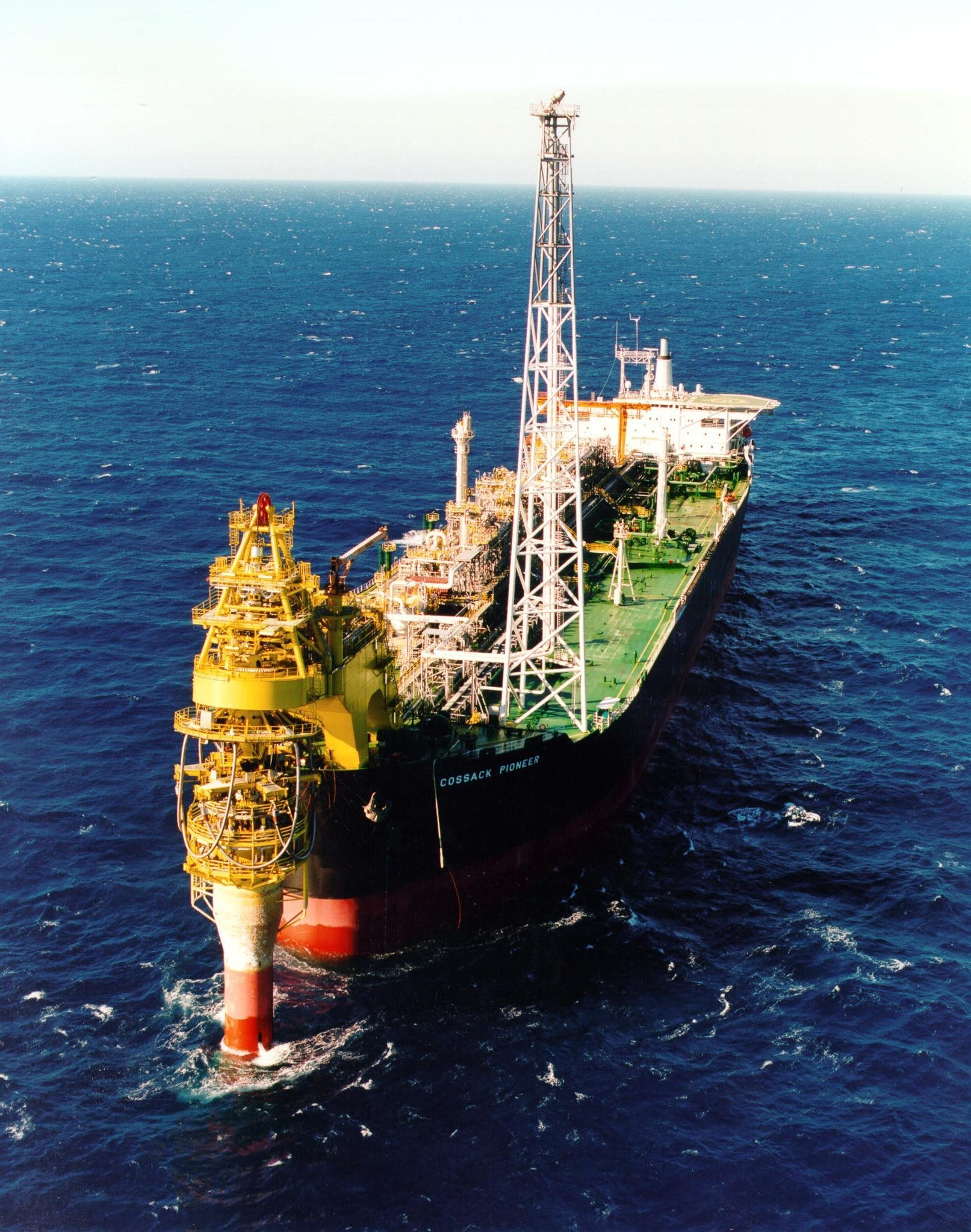 An undated handout photo shows Australian resources giant Woodside's Cossack Pioneer oil production facility in the North West Shelf (NWS) gas project, which produces a third of Australia's oil and half of its natural gas, off the northwest coast of Australia (File)