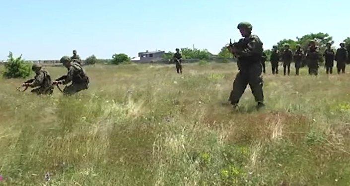 Russia's Black Sea Fleet Marine Corps Drills