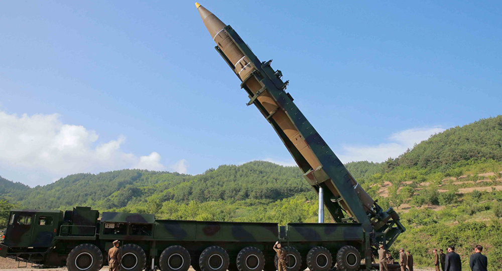 The intercontinental ballistic missile Hwasong-14 is seen in this undated photo released by North Korea's Korean Central News Agency (KCNA) in Pyongyang, July, 4 2017.