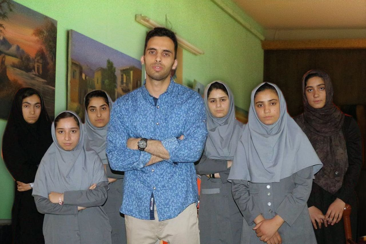Members of Afghan robotics girls team who were denied entry into the United States for a robotics competition