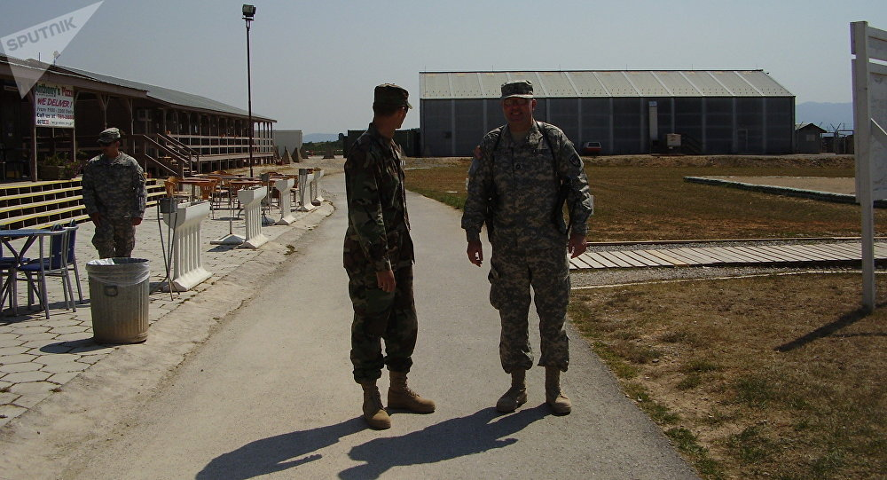 US military personnel at Camp Bondsteel. File photo