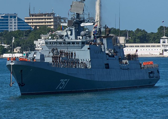 The Black Sea Fleet's new frigate Admiral Essen has arrived in Sevastopol following combat operations near the coast of Syria