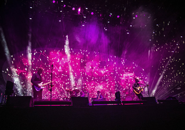 Radiohead perform at Coachella Music & Arts Festival at the Empire Polo Club on Friday, April 14, 2017, in Indio, California.