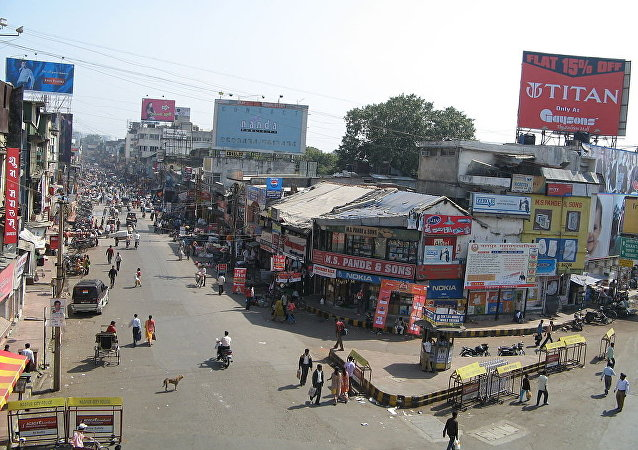 Sitabuldi Market, one of the busiest commercial areas of Nagpur
