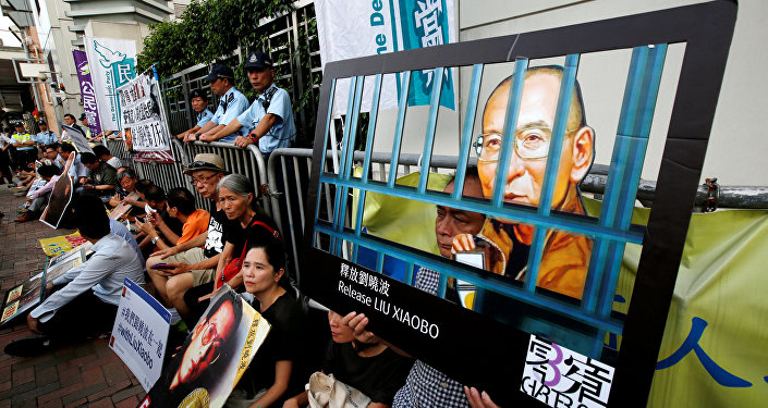 Hong Kong protesters demand Liu Xiaobo receive overseas care