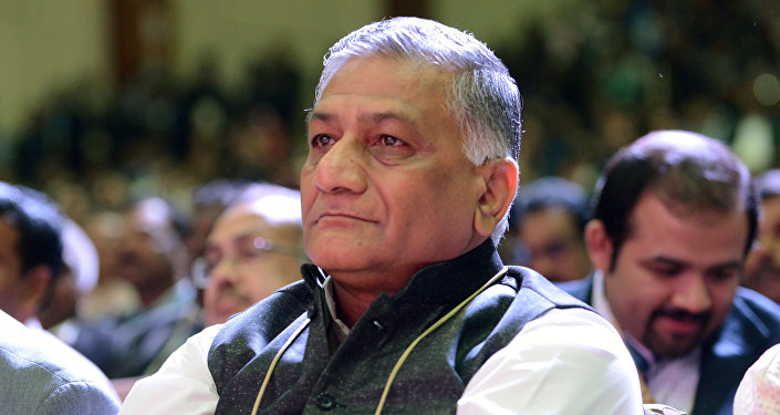 Indian Union Minister of State for External Affairs and retired army general V.K. Singh