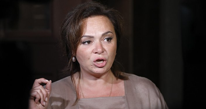 Allegedly Kremlin-linked lawyer Natalia Veselnitskaya speaks to journalists in Moscow, Russia, Tuesday, July 11, 2017.