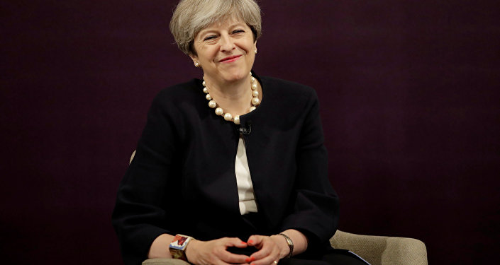Britain's Prime Minister Theresa May answers questions after delivering a speech at the RSA (Royal Society for the encouragement of Arts, Manufactures and Commerce) in London, Britain, July 11, 2017.