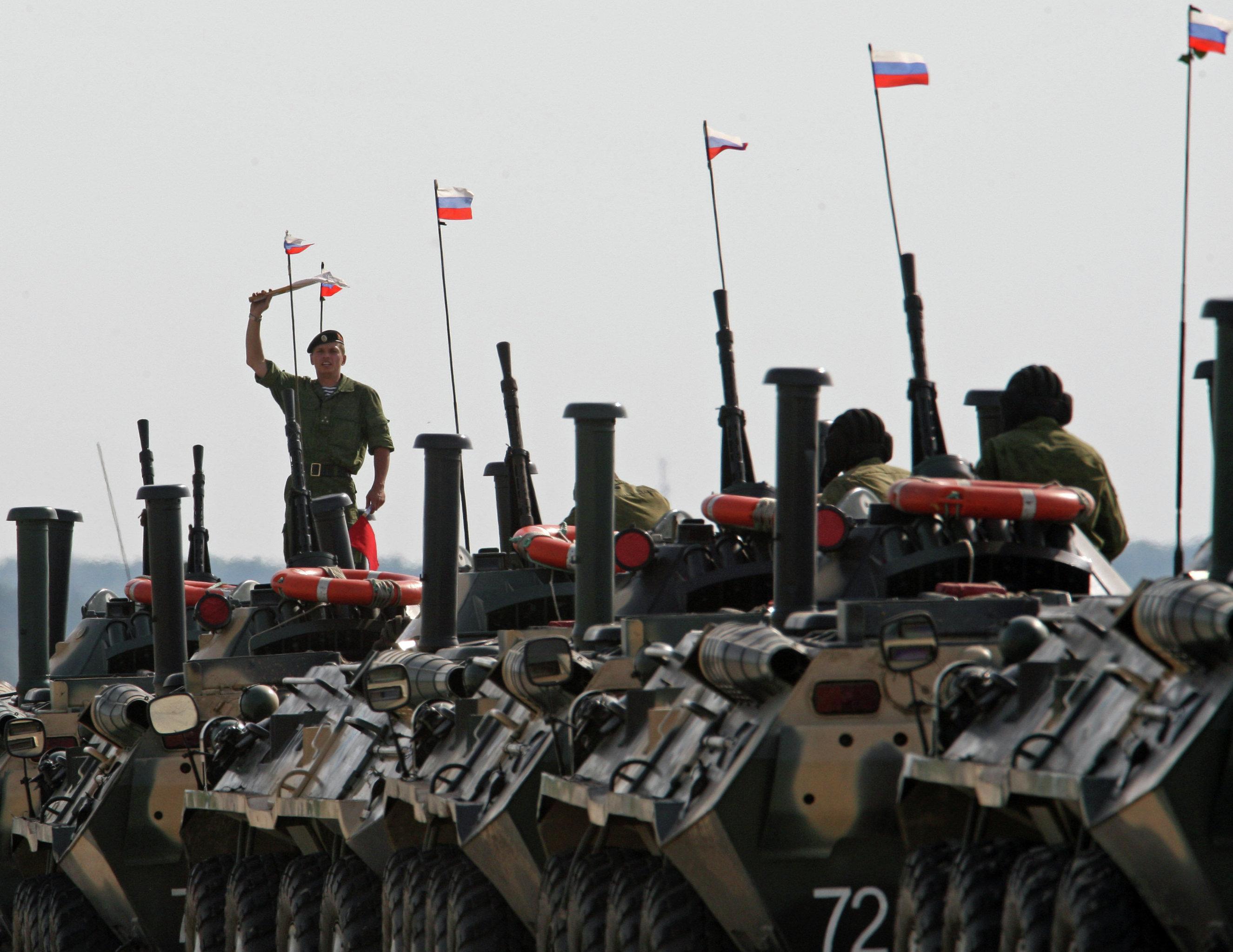 Marine and paratroopers landing drill in Kaliningrad Region