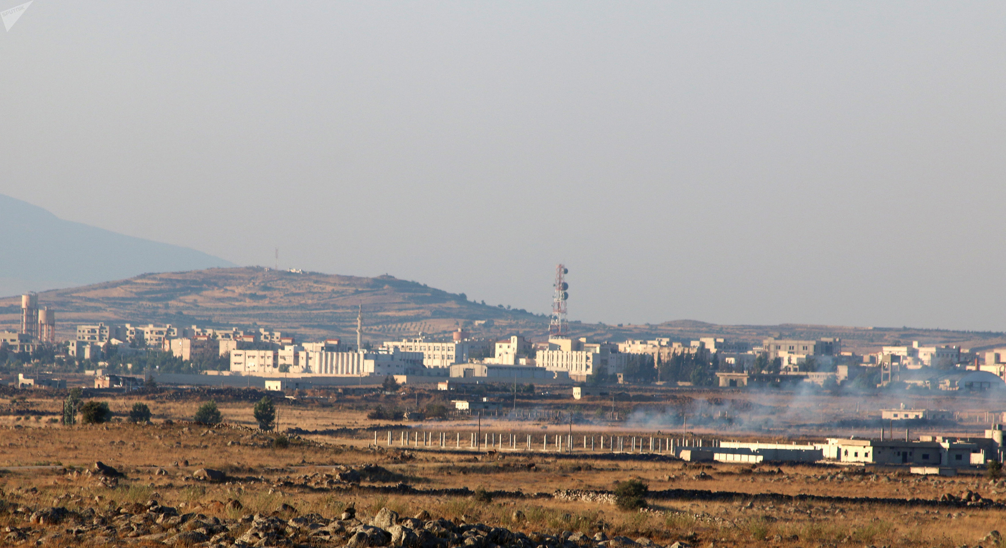 A general view shows Baath city, bordering the Israeli-occupied Golan Heights, Syria June 24, 2017
