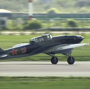 Soviet Ilyushin IL-2 Fighter At MAKS-2017