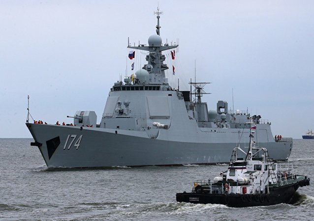 The Type 052D destroyer Hefei of the Chinese Navy arrives in Baltiysk for the 2017 Naval Cooperation Russia-China drills. File photo.