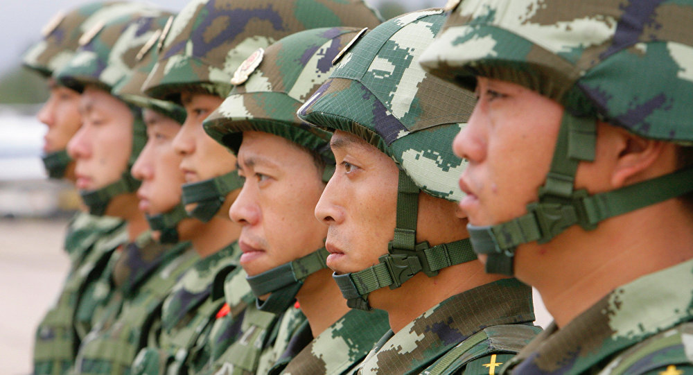 Special troops of the Beijing division of the People's Armed Police of China arrive in Russia