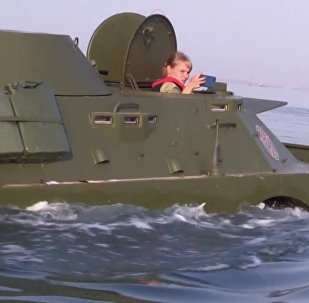 Armored Vehicles Cross Kerch Strait