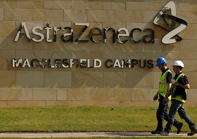 FILE PHOTO: FILE PHOTO: A sign is seen at an AstraZeneca site in Macclesfield, central England May 19, 2014.