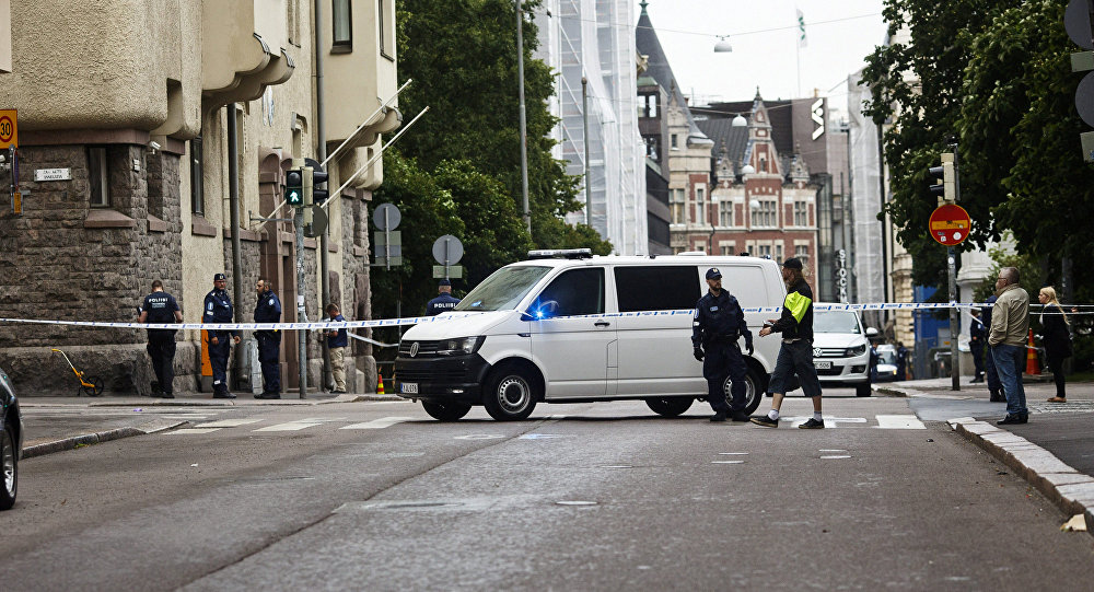 One dead as man drives into Helsinki crowd