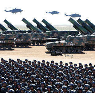 Soldiers of China's People's Liberation Army (PLA) take part in a military parade to commemorate the 90th anniversary of the foundation of the army at the Zhurihe military training base in Inner Mongolia Autonomous Region, China, July 30, 2017