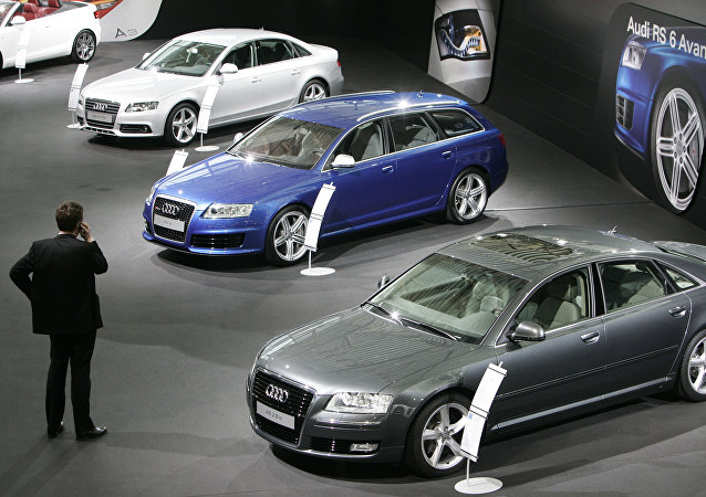 The March 11, 2008 file photo shows new Audi cars presented during the annual press conference in Ingolstadt, southern Germany