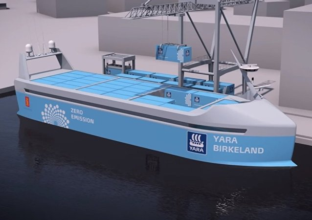 The world's first autonomous, zero emission container ship