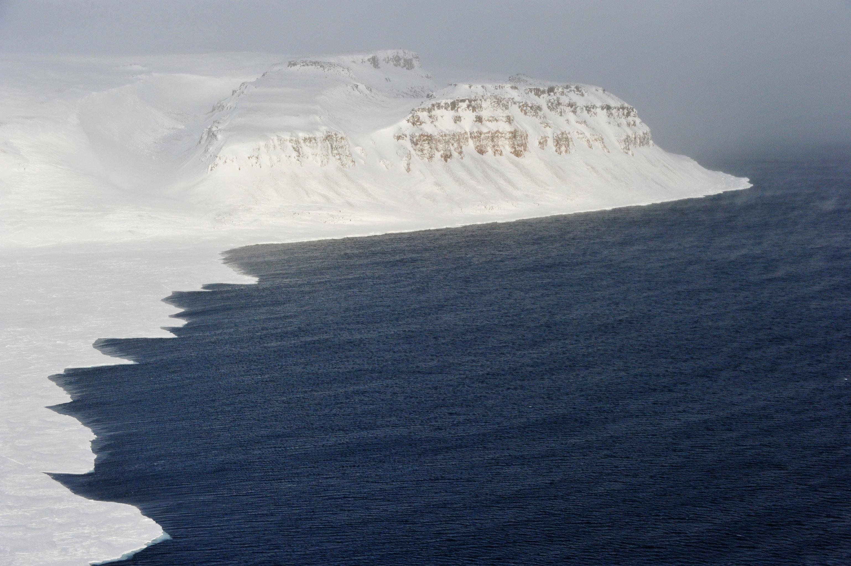 Coastline of the Franz Josef Land archipelago.