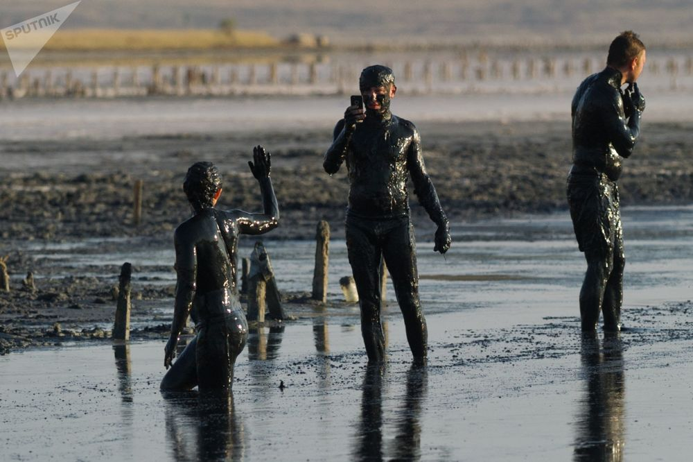Get Dirty! 'Magic' Mud of Crimea's Chokrak Lake