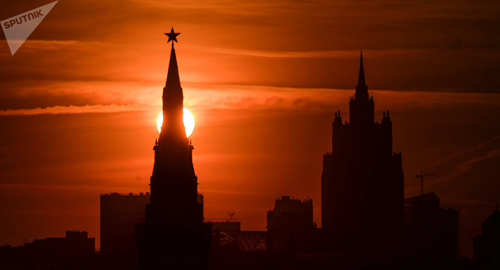 One of the Kremlin towers in Moscow.