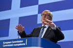 European Commission President Jean-Claude Juncker speaks during a media conference at EU headquarters in Brussels. File photo